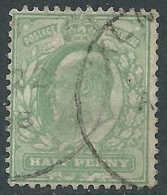 1902-10 GREAT BRITAIN USED SG 217 1/2d PALE YELLOWISH GREEN - 1902-1951 (Re)