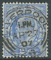 1902-10 GREAT BRITAIN USED SG 230 2 1/2d ULTRAMARINE - Usati