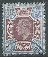 1902-10 GREAT BRITAIN USED SG 250 9d DULL PURPLE & ULTRAMARINE - 1902-1951 (Re)
