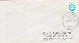 SOBRE ENVELOPE OBLITERE USHUAIA (NO POSTAL) 1982. ARGENTINA.- BLEUP - Argentina