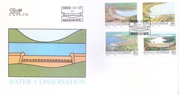 BOPHUTHATSWANA / SOUTH AFRICA : FIRST DAY COVER WITH INFORMATION BROCHURE INSIDE : WATER CONSERVATION : 17-11-1988 - Bophuthatswana