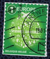 Belgique 2015 Oblitéré Used Season's Greetings Joyeuses Fêtes Vert Europe - België