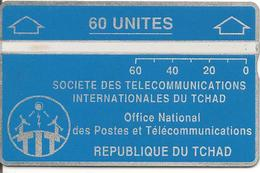 CARTE MAGNETIQUE-TCHAD-60U-BLEU-V° N° En Bas A Droite Inversé-501A01630-NEUVE-TBE - Tsjaad