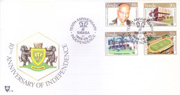 VENDA / SOUTH AFRICA : FIRST DAY COVER WITH INFORMATION BROCHURE INSIDE : 10TH ANNIVERSARY OF INDEPENDENCE : 13-09-1989 - Bophuthatswana