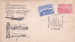 DIA INTERNACIONALDE LA ANTARTIDA, FIRST DAY CARD 1965. ARGENTINA.- BLEUP - Polar Philately