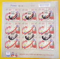 Brazil At The 2018 FIFA Football World Cup Russia Horse Star Satellite Sheet = 18 Stamps = HANDSTAMP - Brasil