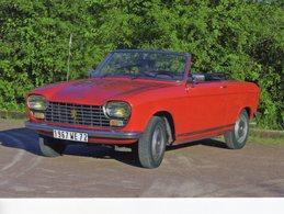 Peugeot 204 Cabriolet  -  1967  -  15 X 10 Cms PHOTO - Cars