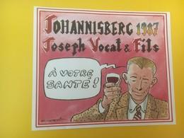 8428 - Johannisberg 1987 Joseph Vocat Suisse A Votre Santé - Bande Dessinée