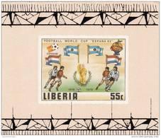Liberia Nº 886 Al 891 En Hojas SOBRECARGADAS - 1982 – Espagne