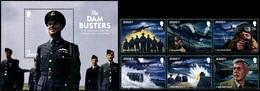 Jersey 2018 Dam Busters WWII 6v + SS MNH - 2. Weltkrieg