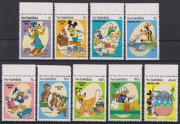 2170  WALT DISNEY  The GAMBIA ( Easter 1984 ) Easter Eggs Painted By The Walt Disney Personnages . - Disney