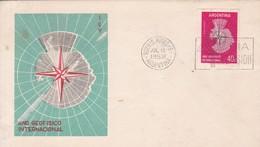 AÑO GEOFISICO INTERNACIONAL. FDC. OBLIT BUENBOS AIRES 1958. ARGENTINA.- BLEUP - International Geophysical Year