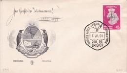 AÑO GEOFISICO INTERNACIONAL. FDC OBLIT BUENOS AIRES 1958. ARGENTINA.- BLEUP - International Geophysical Year