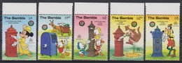 2173  WALT DISNEY  The GAMBIA ( Chrismas 1986 )  Characters And Boxes To The Letters In The World . - Disney