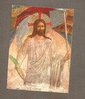 CRISTO RISORTO  SANTINO CARTOLINA BEATO ANGELICO - Devotion Images