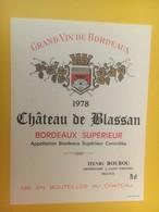 8443 - Château De Blassan 1978 - Bordeaux