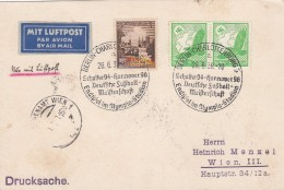 Deutsches Reich  Postkarte Luftpost 1938 - Deutschland