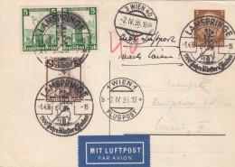 Deutsches Reich  Postkarte Luftpost 1936 - Deutschland