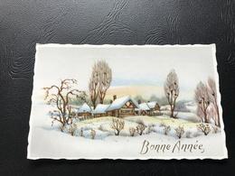 599 - BONNE ANNEE Village Enneigé - Neujahr