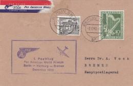 Berlin Brief 1950 First Flight Berlin - Bremen - [5] Berlin