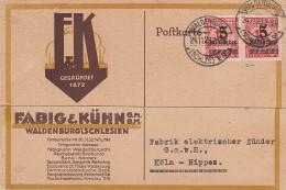 Deutsches Reich Postkarte 1923 INFLA (Repariert Und Geprufft) - Deutschland