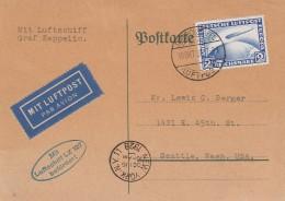 Deutsches Reich Zeppelin Postkarte 1928 L:z 217 - Deutschland