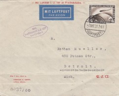 Deutsches Reich Zeppelin Brief 1928 L:z 217 - Deutschland