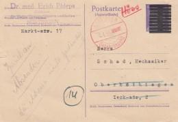 Allierter Besetzung Notausgabe Postkarte 1945 - Bizone