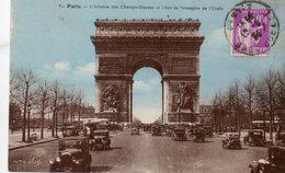 Carte Postale Ancienne. PARIS : L'Avenue Des Champs Elysées Et L'Arc De Triomphe De L'Etoile. - Arc De Triomphe