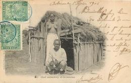 CHEF ANTANDROY ET SA RAMATOA  FEMME SEINS NUS - Madagascar