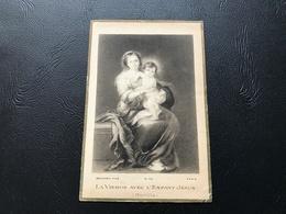 34 - LA VIERGE ET L'ENFANT JESUS - 1924 ST MERRI - Devotion Images