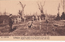 Ypres - Cimetière Anglais Sur Les Remparts Porte De Lille - Ieper
