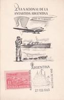 CARD. DIA NACIONAL DE LA ANTARTIDA ARGETINA. OBLIT BUENOS AIRES 1965.- BLEUP - Polar Philately