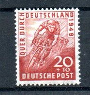 Allemagne Bizone / N 75 / 20 + 10 Pf Rouge / NEUF Avec Trace De Charnière - Zone Anglo-Américaine