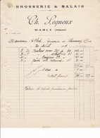 Facture Brosserie Et Balais Ch. Lequeux, Marle (Aisne), 1931 - 1900 – 1949