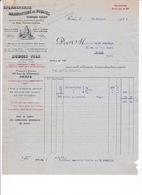 Rare Facture Stéarinerie, Manufacture De Bougies Dubois Fils, 89 Rue De La Verrerie, Paris, Montreuil-sous-Bois, 1926 - Chemist's (drugstore) & Perfumery