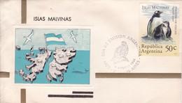 ISLAS MALVINAS. FDC OBLIT BUENOS AIRES 1994. ARGENTINA.- BLEUP - Falkland Islands