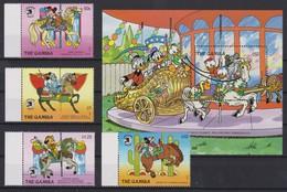 2179  WALT DISNEY  The GAMBIA ( World Stamp Expo '89 Washington I ) Characters Of Walt Disney Amount Of Carousel Horses - Disney