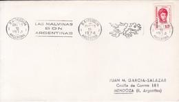BANDELETA PARLANTE: LAS MALVINAS SON ARGENTINAS. SOBRE ENVELOPE OBLIT BUENOS AIRES 1974. ARGENTINA.- BLEUP - Falkland Islands
