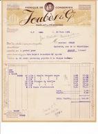 Facture Fabrique De Conserves, Truffes Joubès & Cie, Sarlat-en-Périgord (Dordogne), 1931 - Food