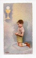 Image Pieuse: Communion, Eglise De Bouzonville, Remy Ritz, 1957 (18-1882) - Devotion Images