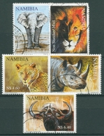 Namibia 2011 Großwils Nashorn Elefant Löwe Büffel 1361/65 Gestempelt - Namibia (1990- ...)