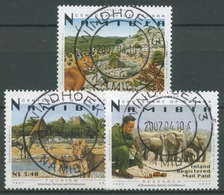 Namibia 2007 100 Jahre Etoscha-Nationalpark Elefanten 1235/37 Gestempelt - Namibia (1990- ...)