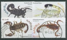 Namibia 2012 Tiere Skorpione 1415/18 Gestempelt - Namibia (1990- ...)