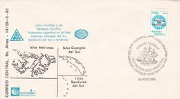 SOBERANIA ARGENTINA EN LAS ISLAS MALVINAS SALON FILATELICO. OBLIT 1982.- BLEUP - Falkland Islands