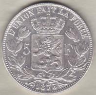 BELGIQUE . 5 FRANCS 1870. LEOPOLD II. ARGENT. Position A - 1865-1909: Leopold II