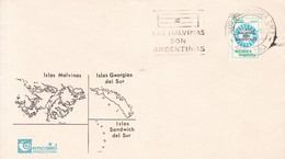 LAS MALVINAS SON ARGENTINAS. OBLITERE BUENOS AIRES 1987.- BLEUP - Falkland Islands