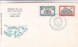 SEMANA DE LAS ISLAS MALVINAS. OBLIT BUENOS AIRES 1979 ARGENTINA.- BLEUP - Falkland Islands