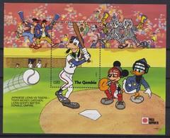 2183  WALT DISNEY  The GAMBIA ( Phila Nippon'91) Dingo Drummer Of A Baseball Team . - Disney