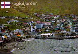 FAROE  ISLAND, FUGLAFJOROUR , VISTA PARCIAL  [46424] - Faroe Islands
